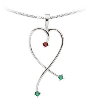 Picture for category Silver Mother's Pendants with Gemstones