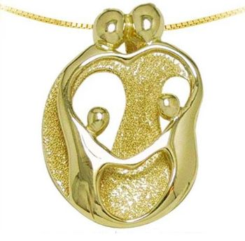 Picture for category Loving Family 14K Yellow Gold Pendants