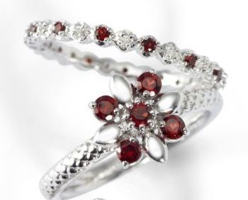 Picture for category January Garnet Silver Rings