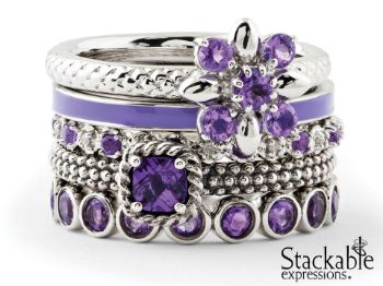 Picture for category February Amethyst Silver Stackable Rings