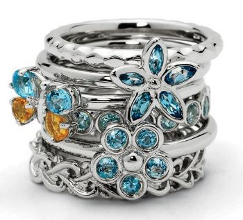 Picture for category March Aquamarine Silver Rings