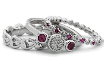 Picture for category June Rhodolite Stackable Silver Rings