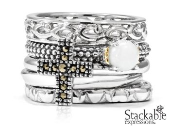 Picture for category Marcasite Sterling Silver Rings