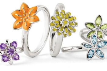 Picture for category Flowers of the Month Silver Rings