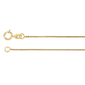 Picture of Yellow Gold Box Chain 0.50 mm