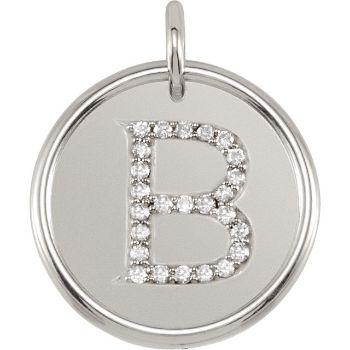 Picture of Initial B, Roxy Diamond Pendant