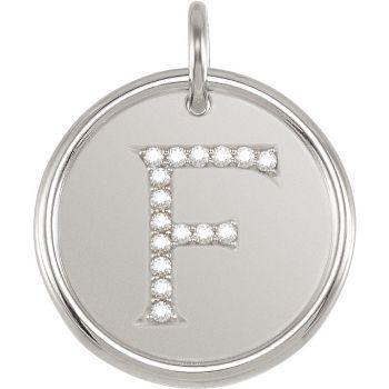 Picture of Initial F, Roxy Diamond Pendant