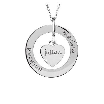 Picture of Posh Mommy Loop & Heart Pendant