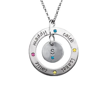 Picture of Posh Mommy Loop & Disc Birthstones