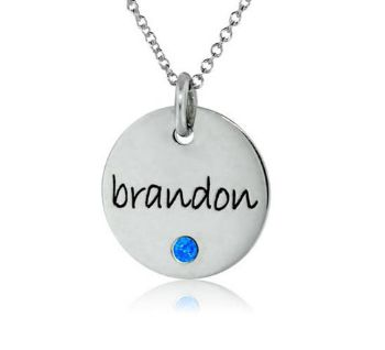 Picture of Small Disc Pendant with Stone