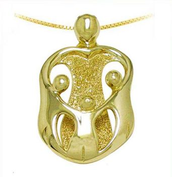 Picture of Gold Mother and Three Children Pendant