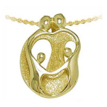 Picture of Gold Two Parents and Two Children Pendant