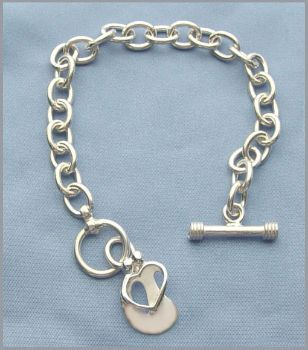 Picture of Silver Loving Couple Toggle Bracelet