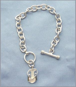 Picture of Silver Mother and Two Children Toggle Bracelet