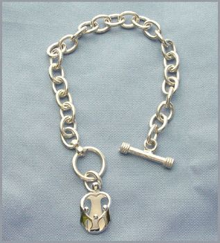 Picture of Silver Mother and Three Children Toggle Bracelet