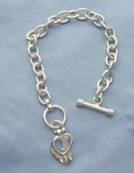 Picture of Silver Parents and One Children Toggle Bracelet