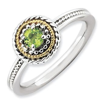 Picture of Silver Fashion Ring Peridot Stone