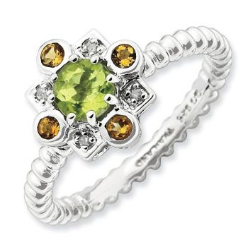 Picture of Silver Fashion Ring Peridot
