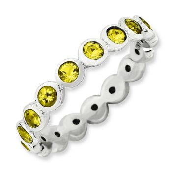 Picture of Silver Stackable 3.50 mm Ring Swarovski Stones
