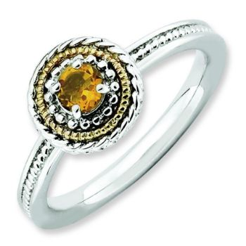 Picture of Stackable Silver Ring & 14k Citrine Stone