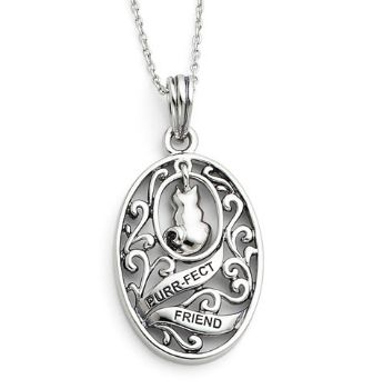 Picture of Animal Friends-Cat, Silver Pendant