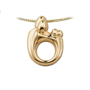 Picture of Large Family Twin Pendant 14K Yellow Gold