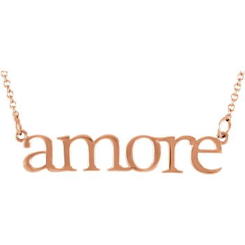 Picture of 14K Gold Amore Necklace