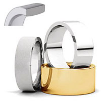 Picture for category Flat Comfort Fit Wedding Bands