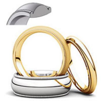 Picture for category Milgrain Comfort Fit Wedding Bands
