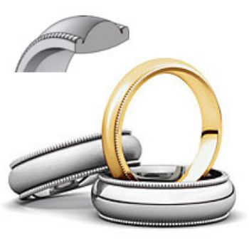 Picture for category Milgrain Comfort Fit Light Wedding Bands
