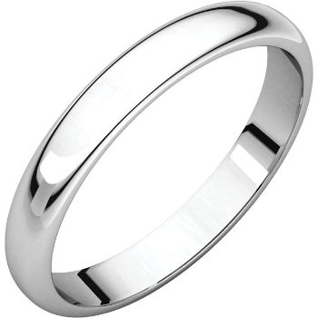Picture of 14K Gold 3 mm Half Round Band