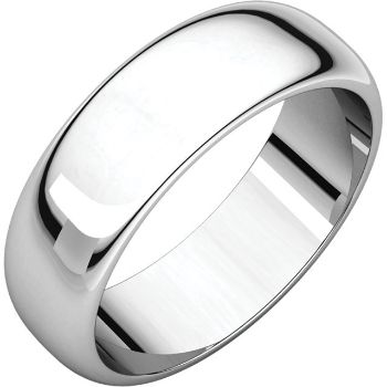Picture of 14K Gold 6 mm Half Round Band