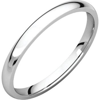 Picture of 14K Gold 2 mm Comfort Fit Light Wedding Band