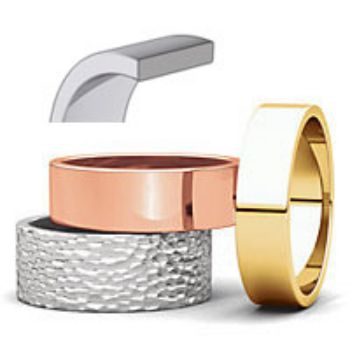 Picture for category Flat Wedding Bands Gold Rings