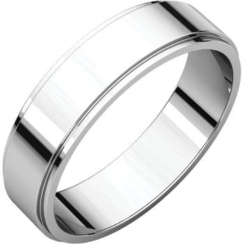 Picture of 14K Gold 5 mm Flat Edge Wedding Band