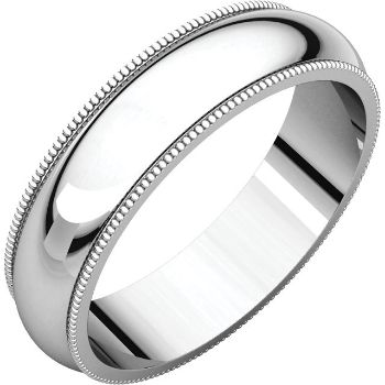 Picture of 14K Gold 5 mm Milgrain Wedding Band