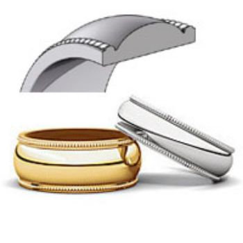 Picture for category Milgrain Light Wedding Bands