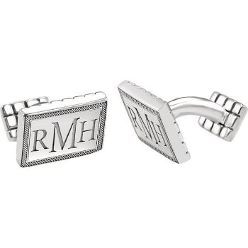 Picture of 13x18 mm 3-Letter Serif Monogram Cuff Links