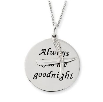 Picture of Always Kiss Me Goodnight Silver Pendant