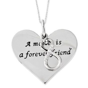 Picture of Mother Is A Forever Friend Silver Pendant