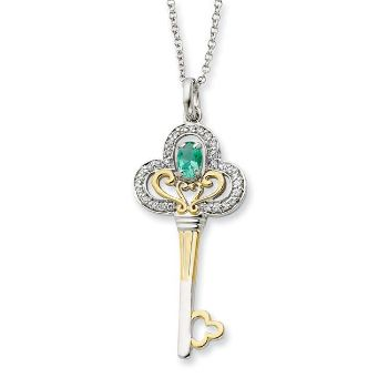 Picture of Gold-plated MAY Birthstone Key