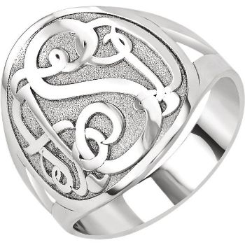 Picture of 3-Letter Script Monogram Ring