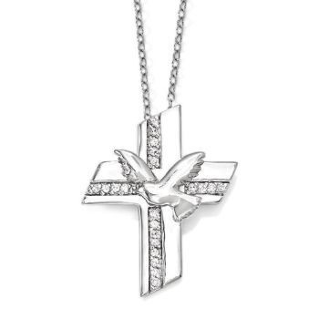 Picture of Confirmation Blessings Silver Cross Pendant