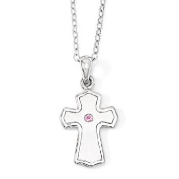 Picture of Child Of God (Girl) Cross Silver Pendant