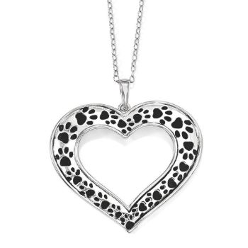 Picture of Animal Lover Silver Heart Pendant
