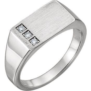 Picture of 14K White Gold Men's Signet Ring