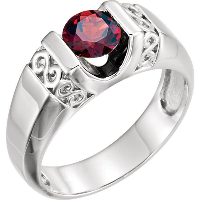 Picture of Men's Mozambique Garnet Ring