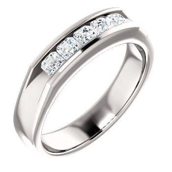 Picture of 14K Gold Men's Asscher-Cut CZ Ring