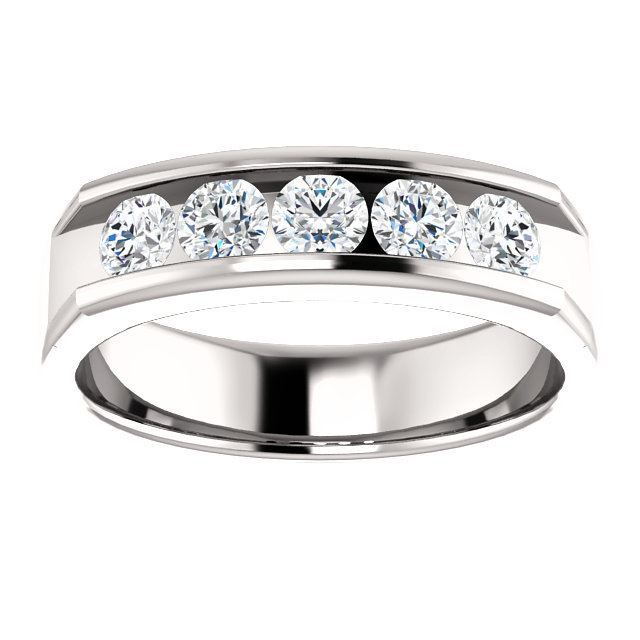 Picture of 14K Gold Men's Round CZ Ring