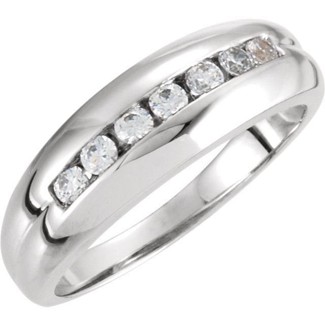 Picture of 14K White Gold Men's Diamond Ring